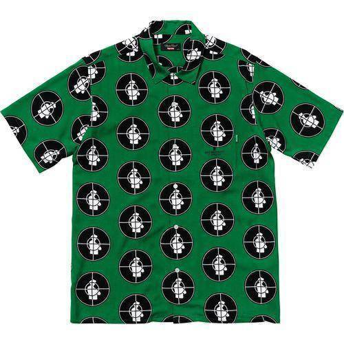 Supreme 18SS Undercover Public Enemy Rayon Shirt Green
