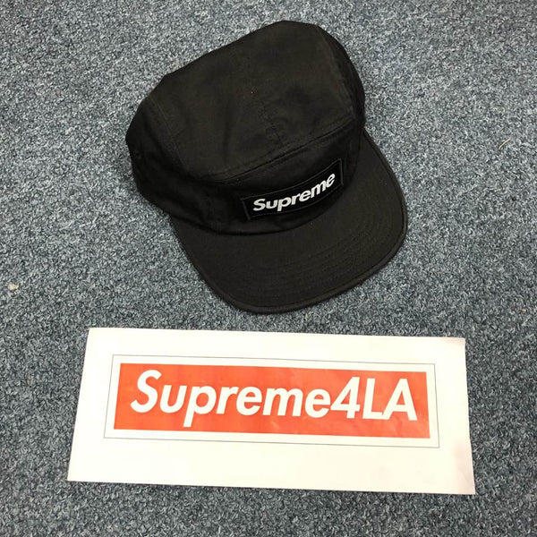 Supreme 18F/W Washed Chino Twill Camp Cap Black