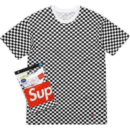 Supreme 18S/S Hanes Tagless Tees [Checkered - 2 Pack]