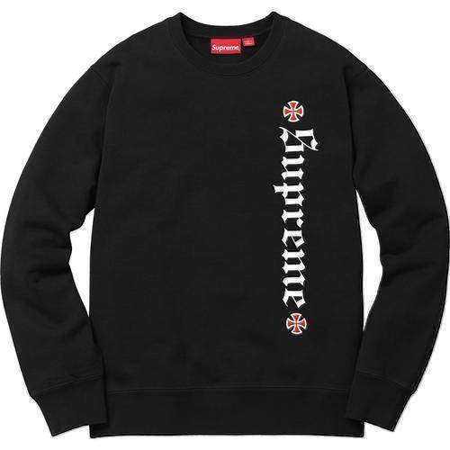 Supreme 17F/W Independent F*ck The Rest Crewneck Black