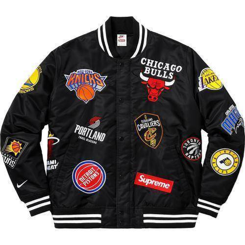 Supreme 18SS Nike NBA Teams Warm-Up Jacket Black