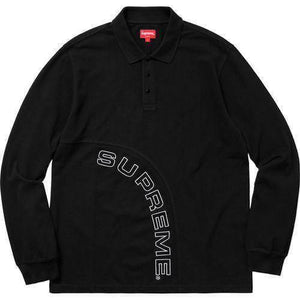 Supreme 18S/S Corner Arc L/S Polo Black