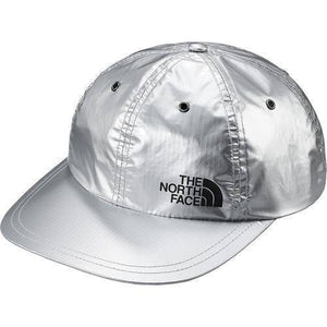 Supreme 18S/S The North Face Metallic 6-Panel Hat Silver