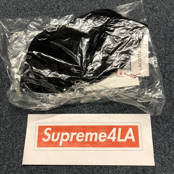 Supreme 18S/S LACOSTE Velour Crusher Black
