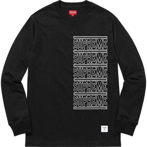 Supreme 18S/S Stacked L/S Top Black