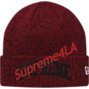 Supreme 18F/W New Era Arc Logo Beanie Red