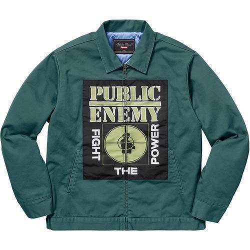 Supreme 18S/S Undercover Public Enemy Work Jacket Teal
