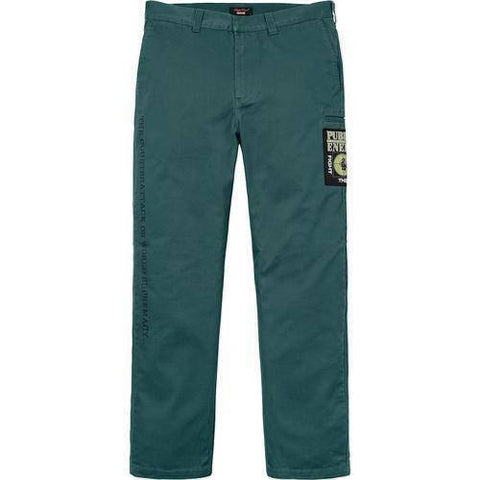 Supreme 18S/S Undercover Public Enemy Work Pant Teal
