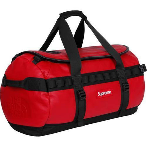 Supreme 17F/W The North Face Leather Base Camp Duffle Red