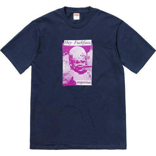Supreme 18S/S F*ck Face Tee Navy