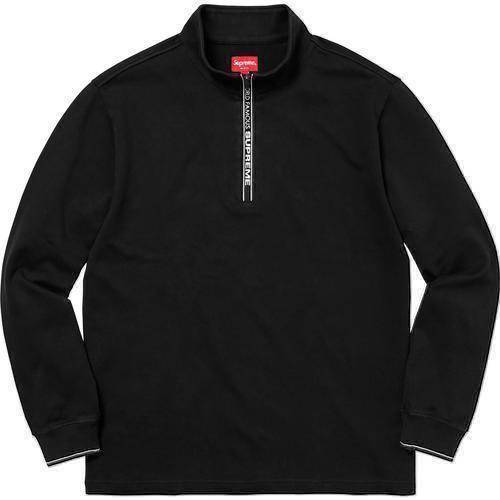 Supreme 17F/W World Famous Half Zip Pullover Black