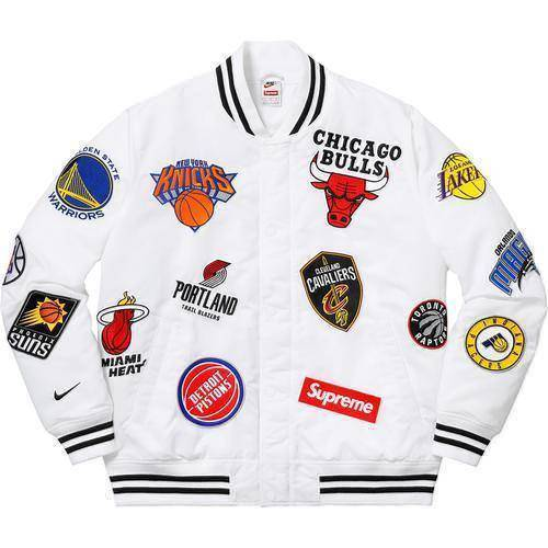 Supreme 18SS Nike NBA Teams Warm-Up Jacket White
