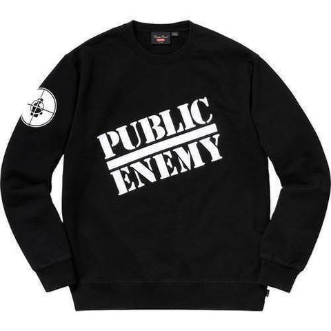Supreme 18SS Undercover Public Enemy Crewneck Black