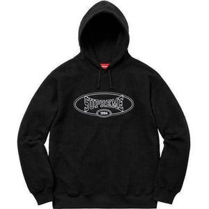 Supreme 18S/S Reverse Fleece Hooded Sweatshirt Black