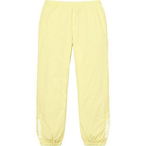 Supreme 18S/S Warm Up Pant Pale Yellow