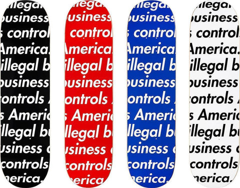 Supreme 18SS Illegal Business Skateboard Decks(Set of 4)