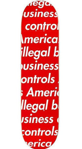 Supreme 18S/S Illegal Business Skateboard Deck Red