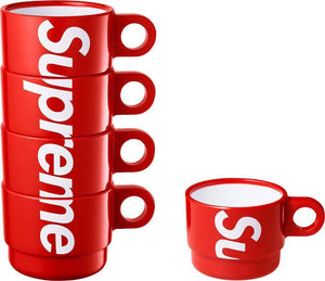 Supreme 18S/S Stacking Cups (Set of 4) Red