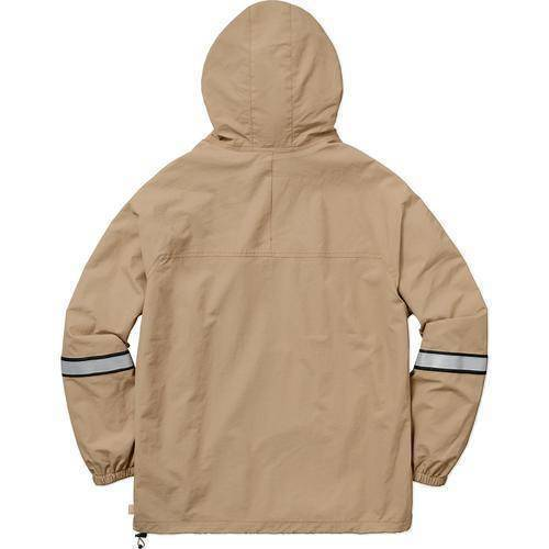 Supreme 18S/S Reflective Taping Hooded Pullover Tan