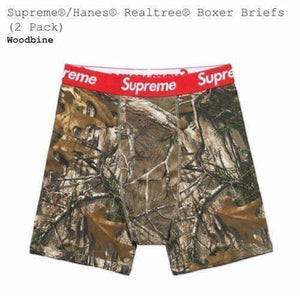 Supreme 17F/W Hanes Realtree Boxer Briefs (2 Pack)