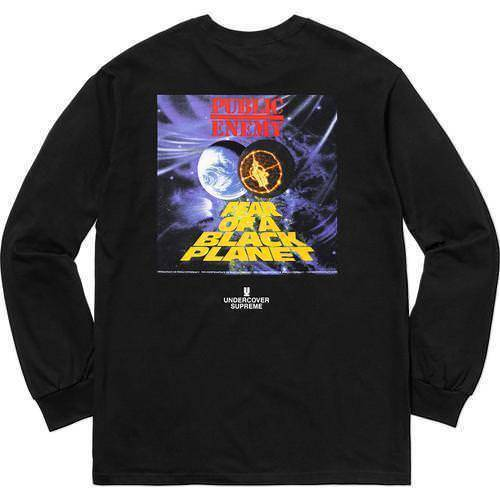 Supreme Undercover Public Enemy Counterattack L/S Tee Black