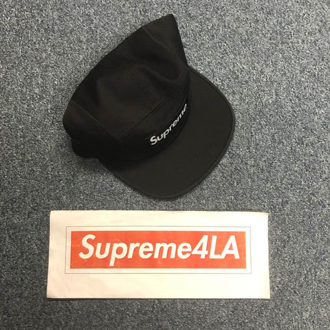 19S/S Washed Chino Twill Camp Cap Black