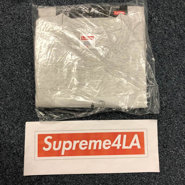 Supreme 18F/W The Empire State Building Tee Ash Grey Size XL