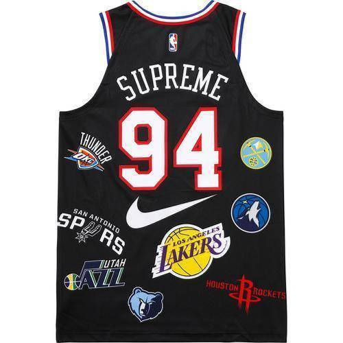 Supreme 18S/S Nike NBA Teams Authentic Jersey Black