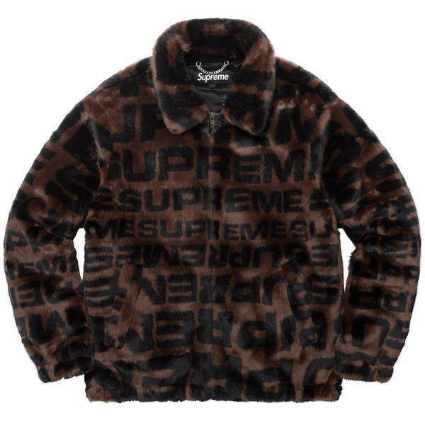 Supreme 18S/S Faux Fur Repeater Bomber Brown