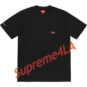 Supreme 18F/W Playboy Pocket Tee Black