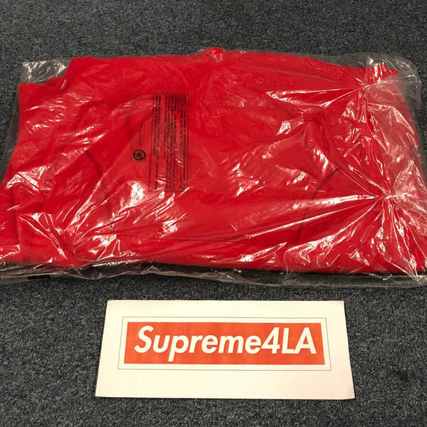 Supreme 18F/W S Logo Hooded Sweatshirt Red