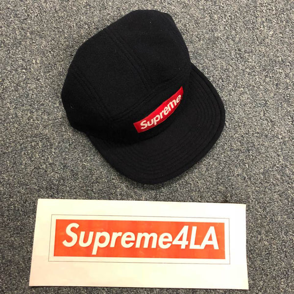 Supreme 18F/W Fleece Pullcord Camp Cap Navy