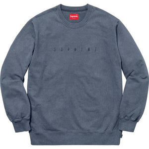 Supreme 18S/S Overdyed Crewneck Sweatshirt Navy