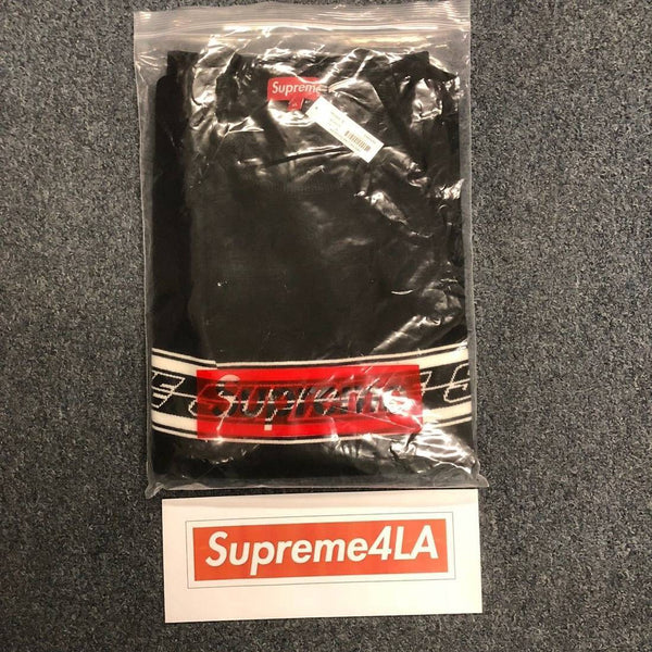 Supreme 18S/S Striped Raglan Sweater Black