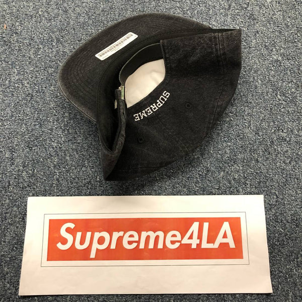 Supreme 18S/S Washed Chambray S Logo 6-Panel Black