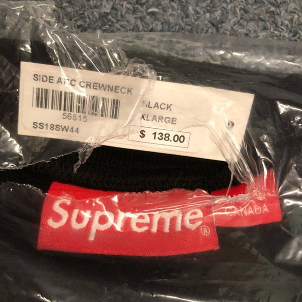 Supreme 18S/S Side Arc Crewneck Black