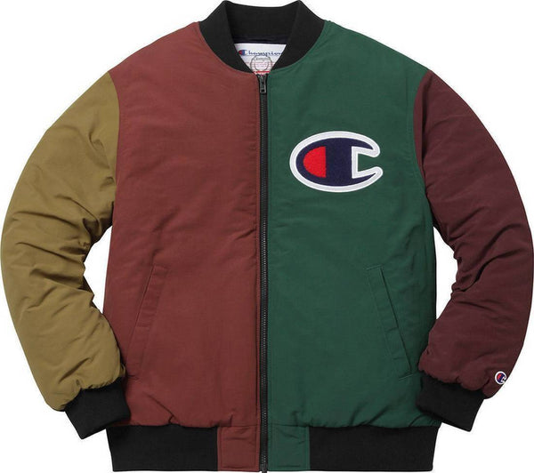 Supreme 17F/W Champion Color Blocked Jacket Multi Color