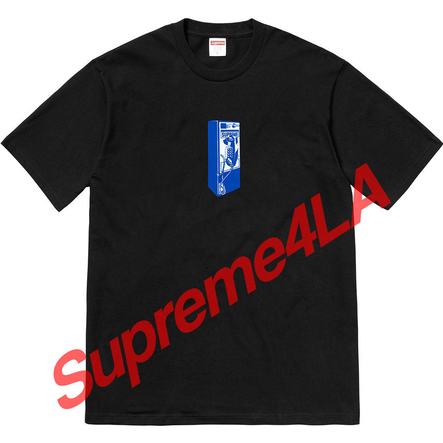 Supreme 18F/W Payphone Tee Black