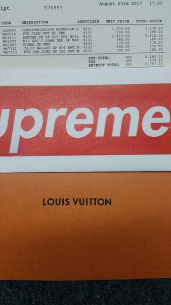 Supreme X Louis Vuitton LV City Game Dice Bag Charm Brown
