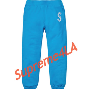 Supreme 18F/W S Logo Sweatpant Bright Loyal