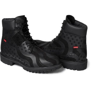 Supreme 17F/W Timberland Stars and Stripes 6-Inch Premium Waterproof Boot Black