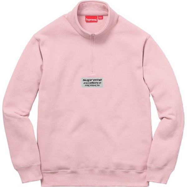 Supreme 17S/S 3M Reflective Excellene Half Zip Sweat Pink