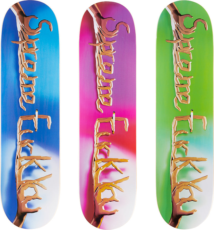 Supreme 18F/W Fuck You Skateboard Decks (Set of 3)