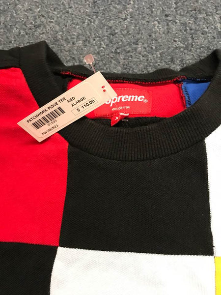 Supreme 18F/W Patchwork Pique Tee Red