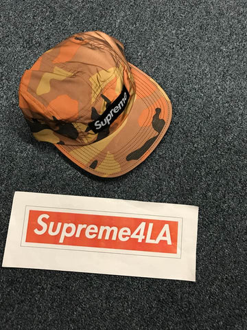 Supreme 18F/W Reflective Camo Camp Cap Orange Camo