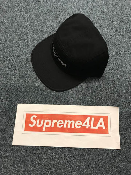 Supreme 18F/W Military Camp Cap Black 1000% Authentic