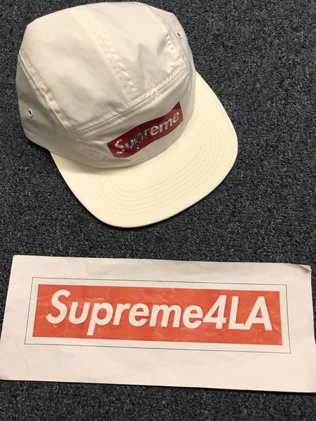 Supreme 19S/S Holographic Logo Camp Cap White