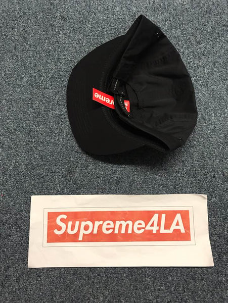 Supreme 19S/S Holographic Logo Camp Cap Black