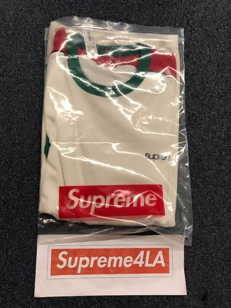 Supreme 19S/S Shoulder Stripe Terry S/S Top White