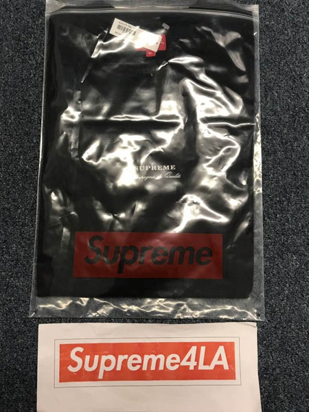 Supreme 19S/S Qualite Tee Black